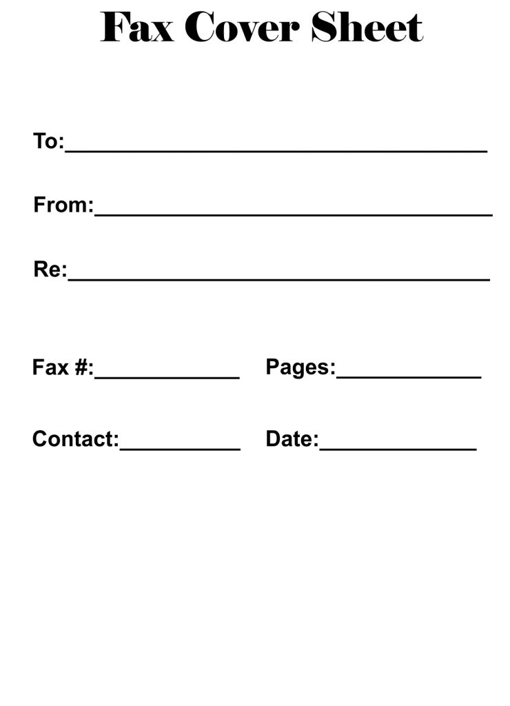 Simple Fax Cover Sheet
