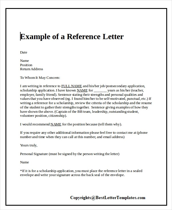 How To Write a Character Reference Letter
