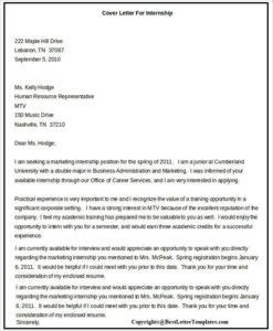 Motivation Letter For Internship Pdf