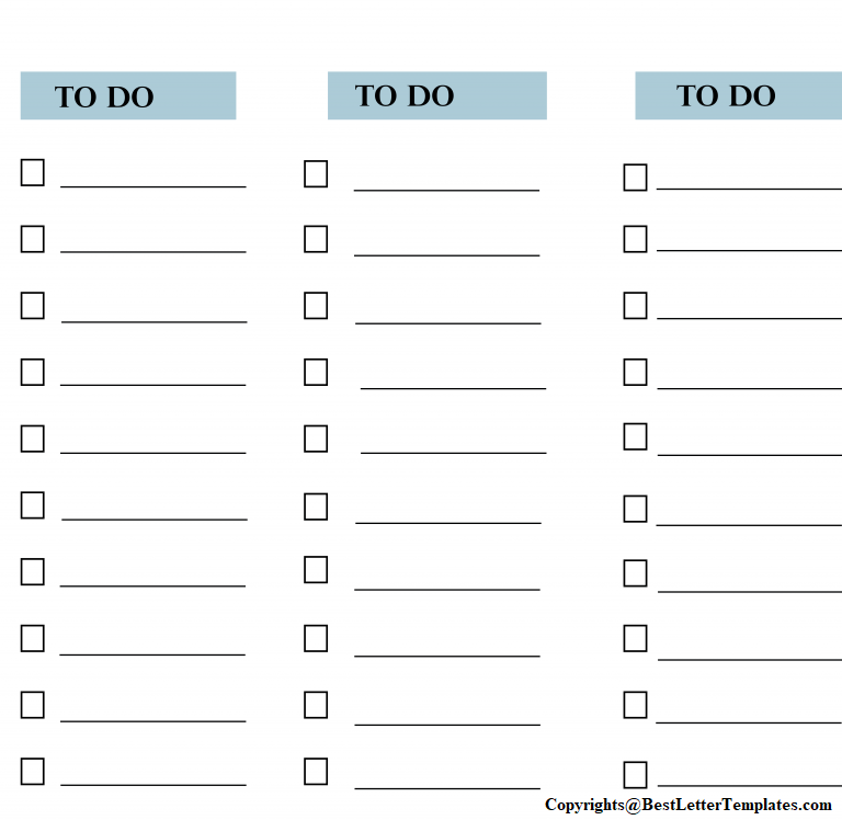 Project Task List Template