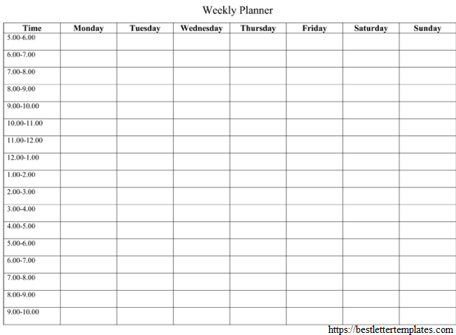 Weekly Planner To-Do List