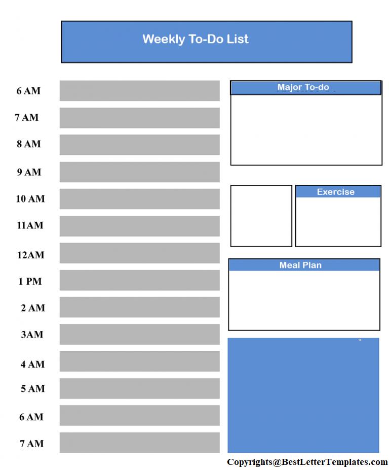 Weekly To-Do List Printable