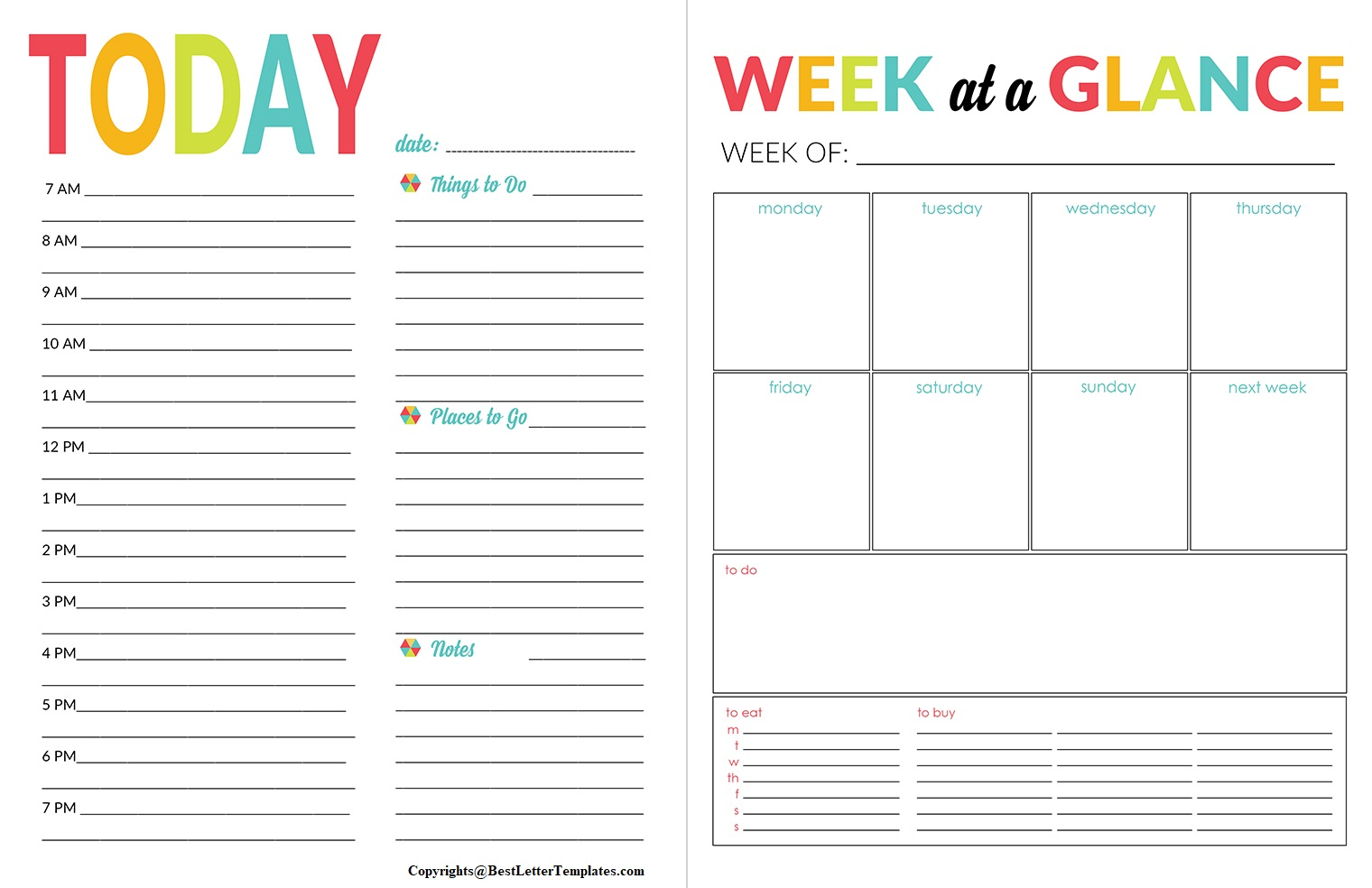 Daily Planner For Students Printable
