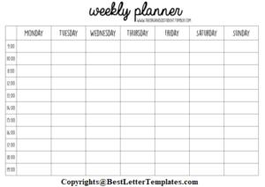 Printable Study Planner
