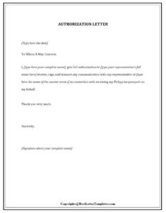 Sample Authorization Letter For SSS