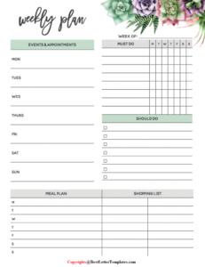Weekly Planner 2020 Printable