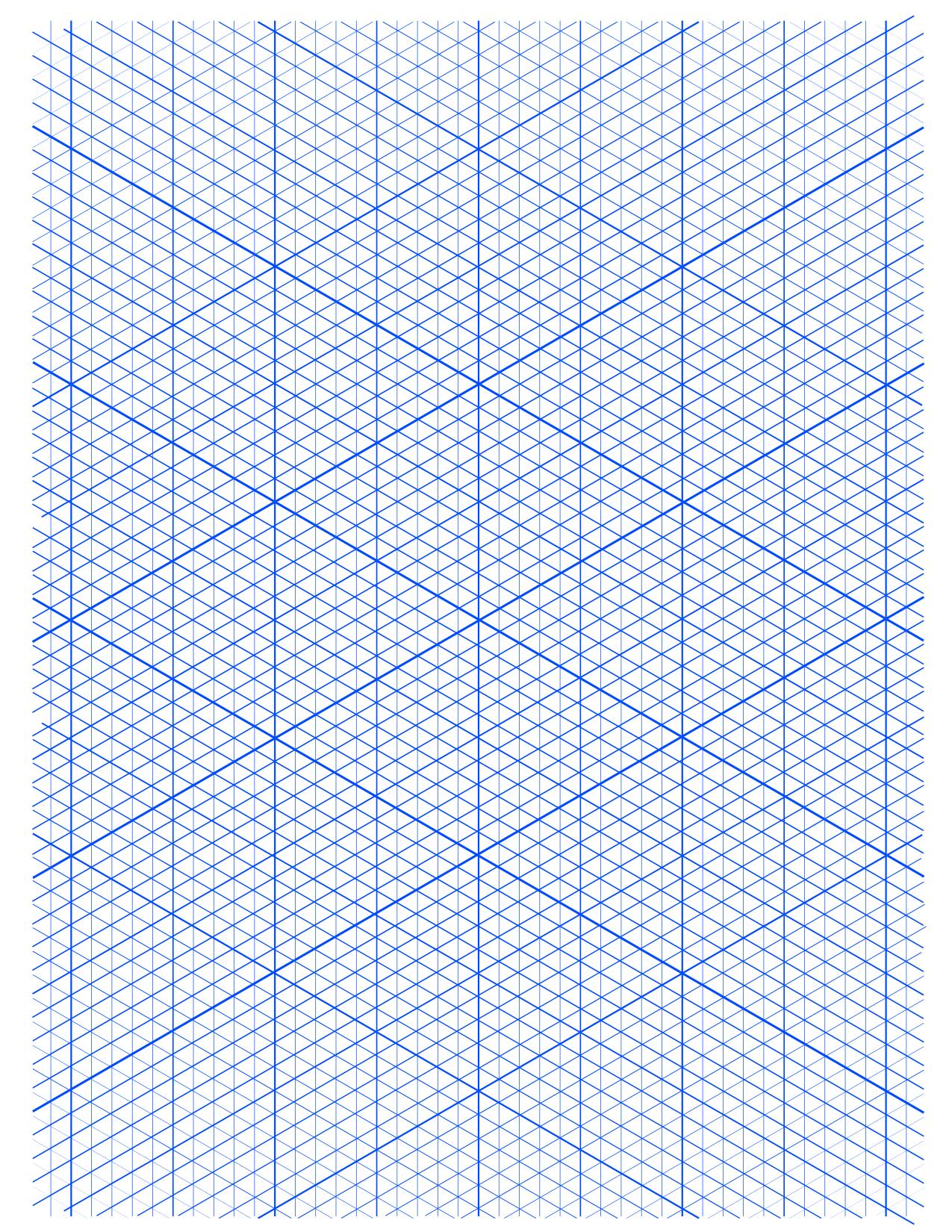 Isometric Grid Paper A4