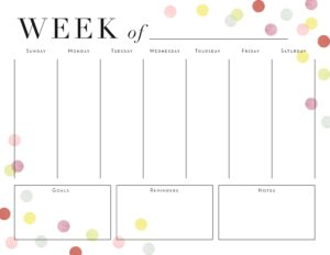 Moms' Weekly Planners Printable