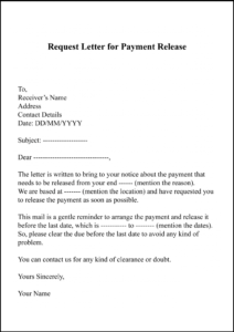 Request Letter For Payment Release