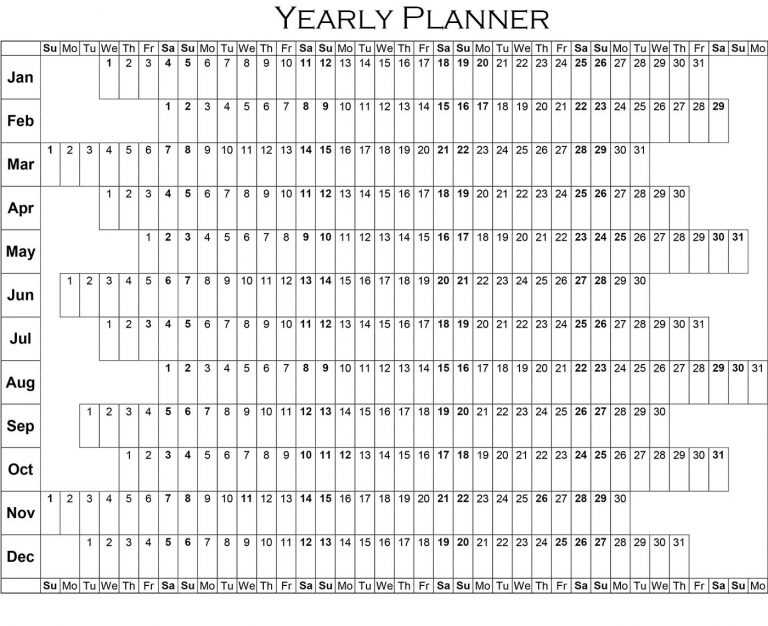 Annual Planner Template