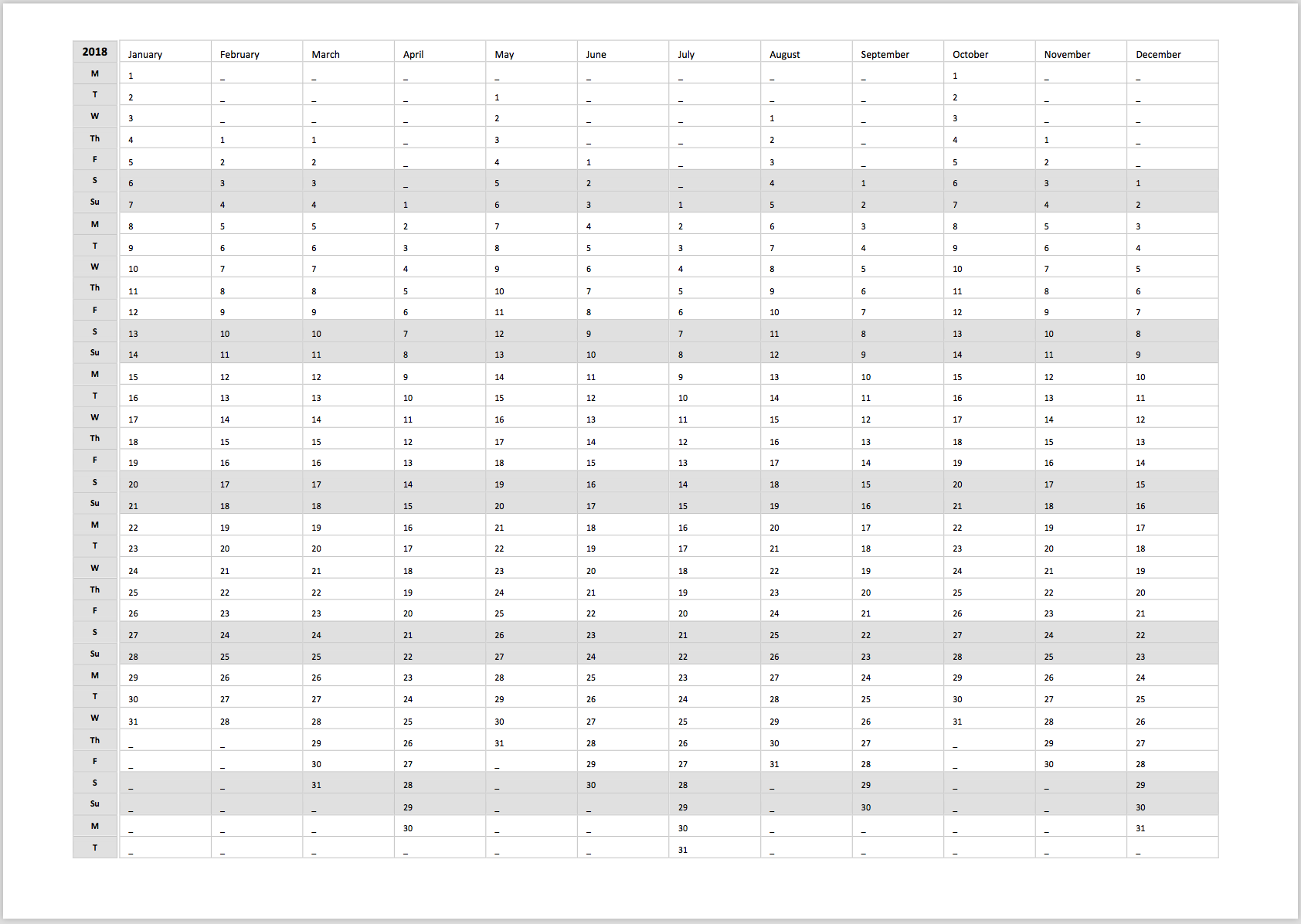 Printable Daily Yearly Planner