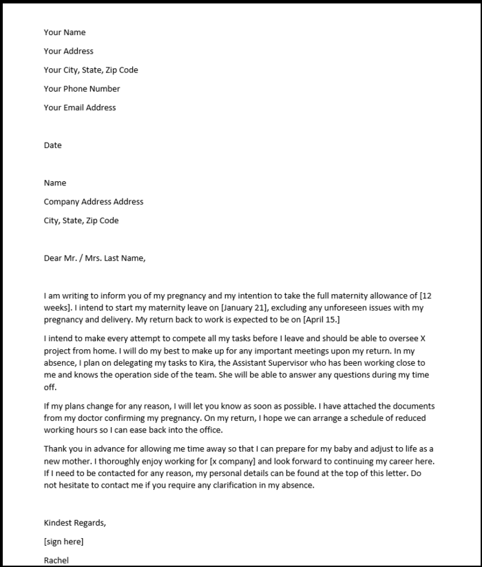 Request Letter Template For Leave